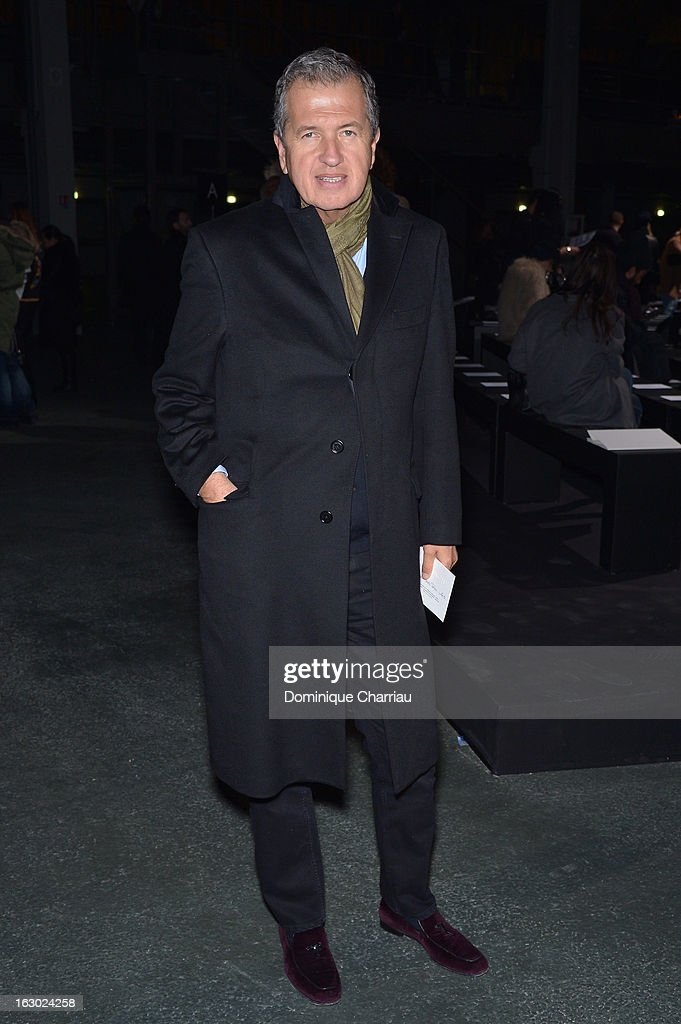Mario Testino attends the Givenchy Fall/Winter 2013 Ready-to-Wear show as part of Paris Fashion Week on March 3, 2013 in Paris, France.