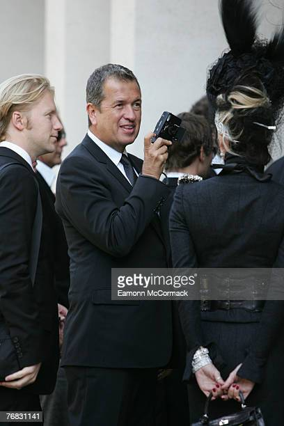 Mario Testino attends the Isabella Blow Memorial Service at Guards Chapel on September 18, 2007 in London, England.
