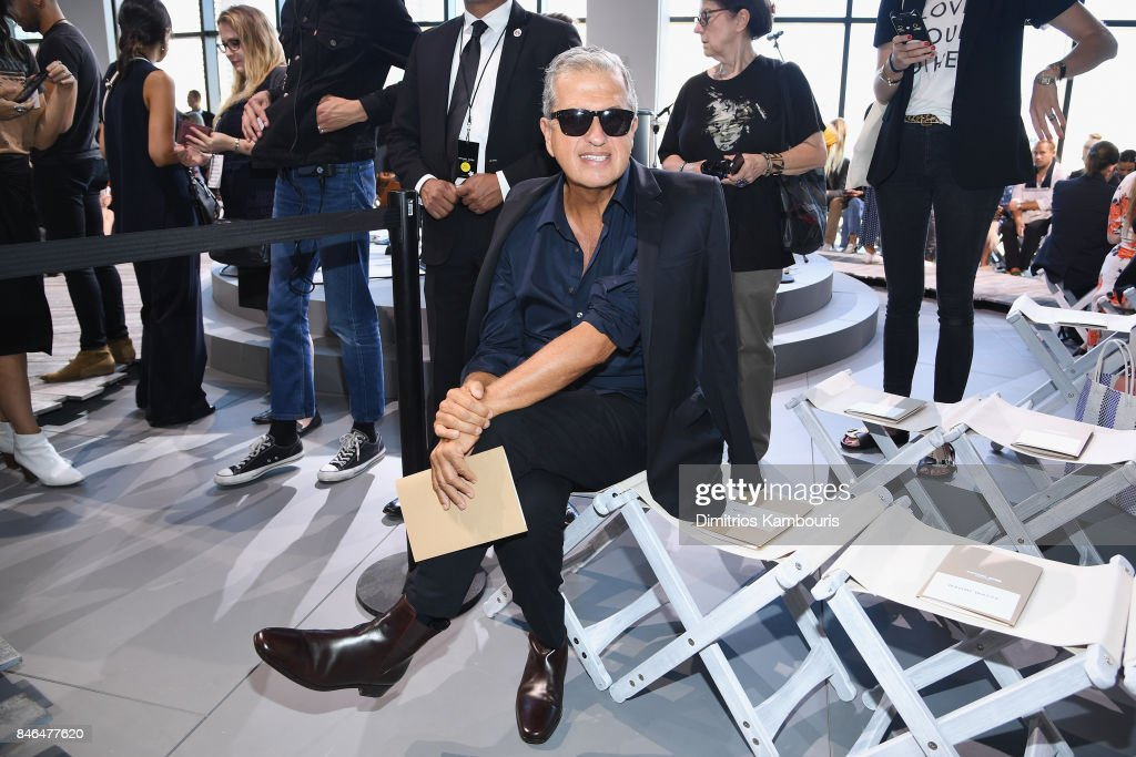Mario Testino attends the Michael Kors Collection Spring 2018 Runway Show at Spring Studios on September 13, 2017 in New York City.