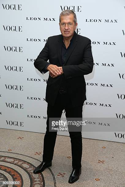 Mario Testino attends the opening of Vogue100 : A century of Style at National Portrait Gallery on February 9, 2016 in London, England.