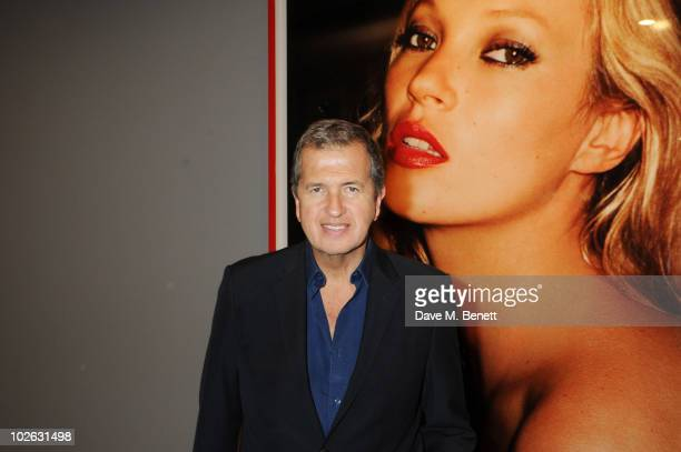 Mario Testino attends the private view of 'Mario Testino Kate Who' at Phillips de Pury Company on July 5 2010 in London England