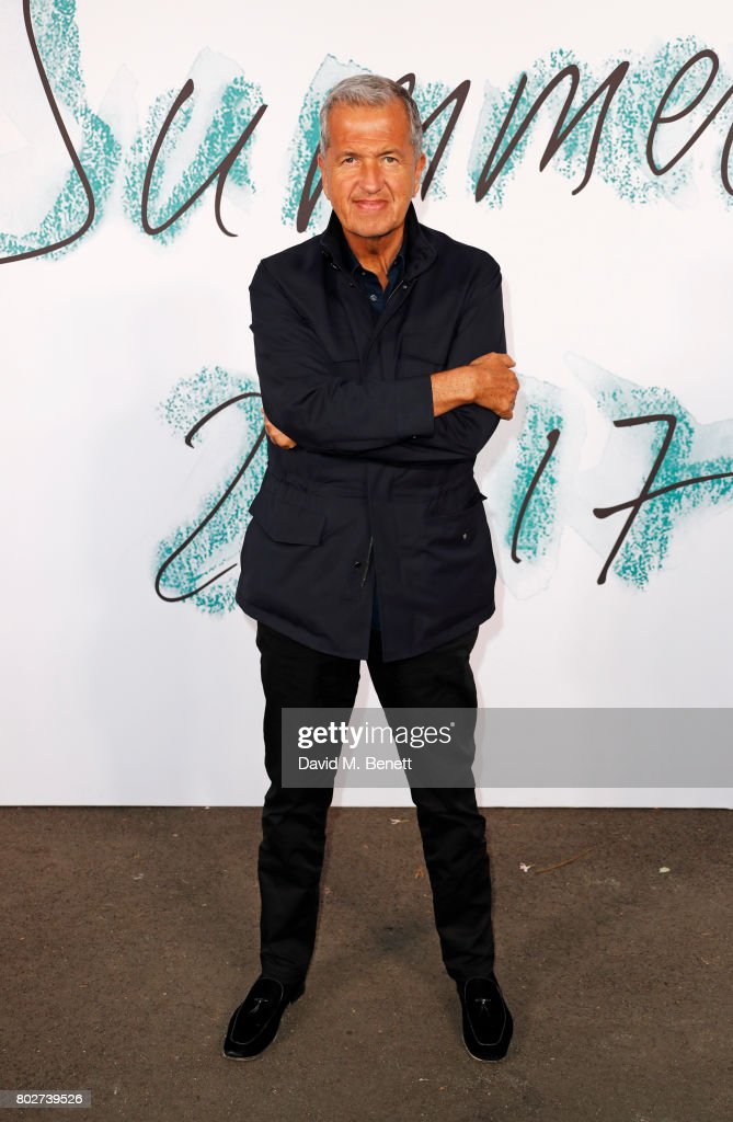 Mario Testino attends The Serpentine Galleries Summer Party at The Serpentine Gallery on June 28, 2017 in London, England.