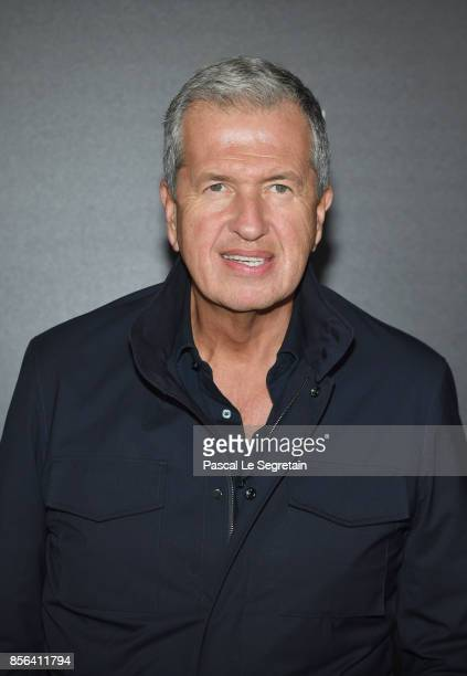 Mario Testino attends the Vogue Party as part of the Paris Fashion Week Womenswear Spring/Summer 2018 at Le Petit Palais on October 1 2017 in Paris...