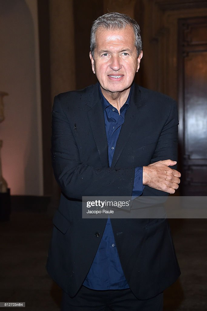 Mario Testino attends Vogue Cocktail Party honoring photographer Mario Testino on February 27, 2016 in Milan, Italy.