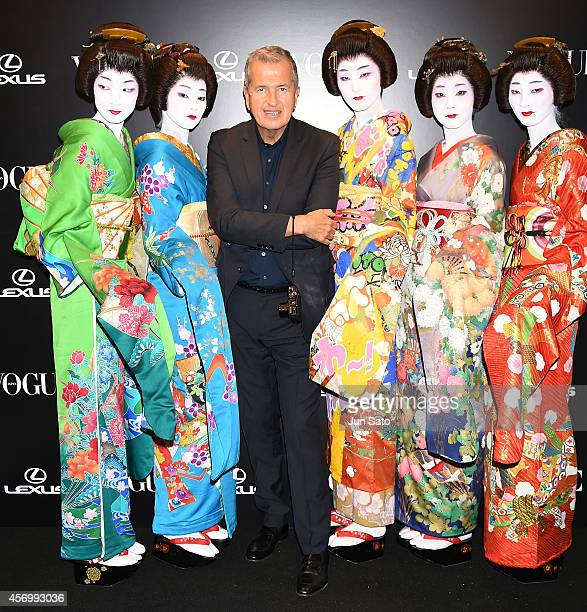 Mario Testino attends Vogue Japan 15th Anniversary Party on October 10 2014 in Tokyo Japan