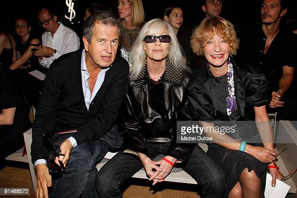 Mario Testino Betty Catroux and Loulou de la Falaise attends Yves Saint Laurent Pret a Porter show as part of the Paris Womenswear Fashion Week...