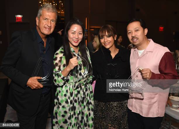 Mario Testino Carol Lim Rashida Jones and Humberto Leon attend the Daily Front Row's Fashion Media Awards at Four Seasons Hotel New York Downtown on...