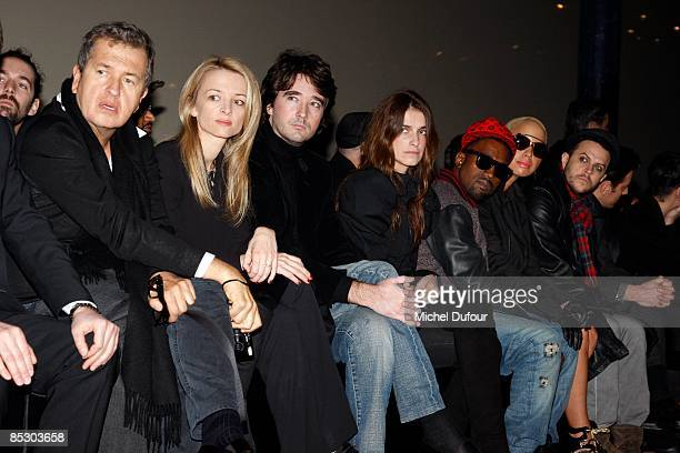 Mario Testino Delphine Arnault Antoine Arnault Joana Preiss Kaye West Amber Rose and Casey Spooner attends the Givenchy ReadytoWear A/W 2009 fashion...