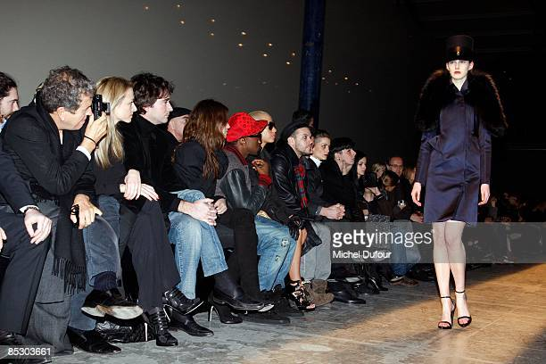 Mario Testino Delphine Arnault Antoine Arnault Joana Preiss Kaye West Amber Rose and Casey Spooner attends at the Givenchy ReadytoWear A/W 2009...