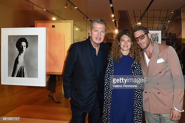 Mario Testino Ginevra Elkann and Lapo Edvard Elkann attend at the Mario Testino Exhibition Opening at the Pinacoteca Giovanni e Marella Agnelli on...
