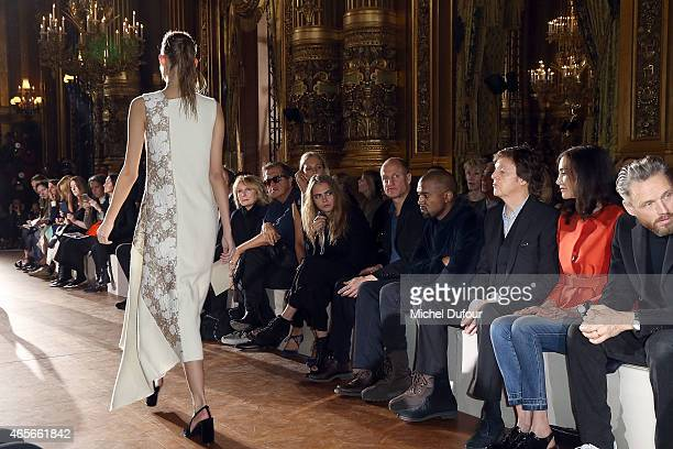 Mario Testino Poppy Delevingne Cara Delevingne Woody Harrelson Kanye West Paul McCartney Nancy Shevell and Alasdhair Willis attend the Stella...