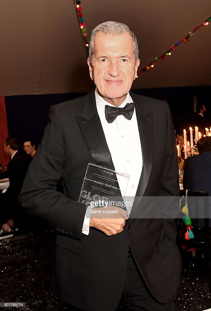 Mario Testino receives the Business of Fashion's Global VOICES Award for outstanding achievement, as The Business of Fashion Presents VOICES on December 2, 2016 in Oxfordshire, England.