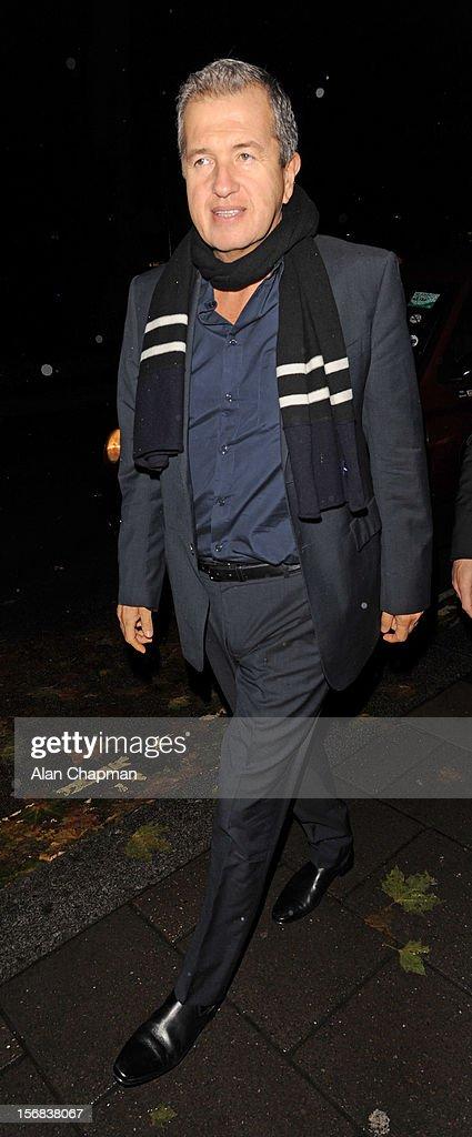 Mario Testino sighting at Annabels on November 22, 2012 in London, England.