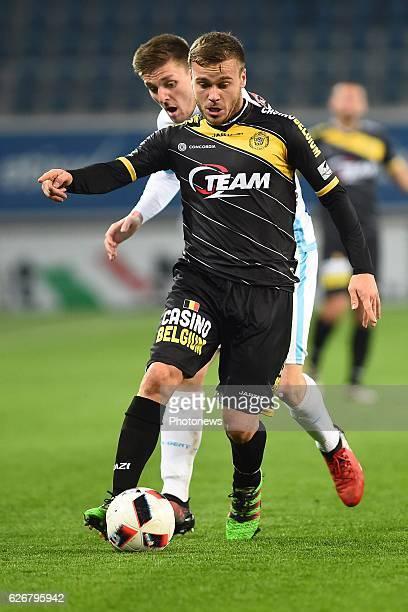 Mario Ticinovic of sporting lokeren and Thomas Foket midfielder of KAA Gent during the Croky Cup match between KAA Gent and KSC LOKEREN in the...