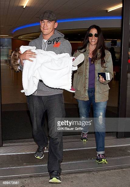 Mario Treadway Ever Imre MorissetteTreadway and Alanis Morissette is seen at Los Angeles International Airport on March 07 2013 in Los Angeles...