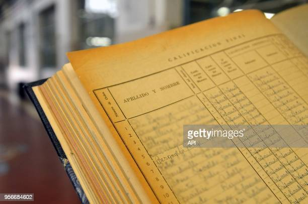 Mario Valdez schoolmate of Jorge Bergoglio shows records from school numer 8 where they studied together