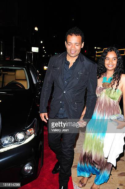 Mario Van Peebles and Chittra Sukhu attend the World Premiere of Things Fall Apart at the 2011 Miami International Film Festival at Gusman Center for...