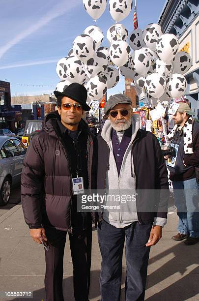 Mario Van Peebles and Melvin Van Peebles during 2005 Park City - Seen Around Town - Day 6 at Park City in Park City, Utah, United States.