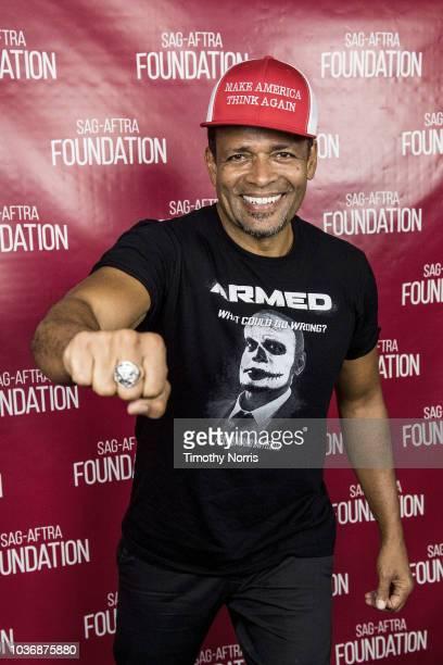 Mario Van Peebles speaks during a screening of 'Armed' at SAGAFTRA Foundation Screening Room on September 20 2018 in Los Angeles California