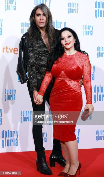 Mario Vaquerizo and Alaska attend 'Dolor Gloria' photocall on March 12 2019 in Madrid Spain