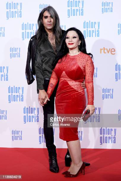 Mario Vaquerizo and Alaska attend 'Dolor y Gloria' premiere at the Capitol cinema on March 13 2019 in Madrid Spain