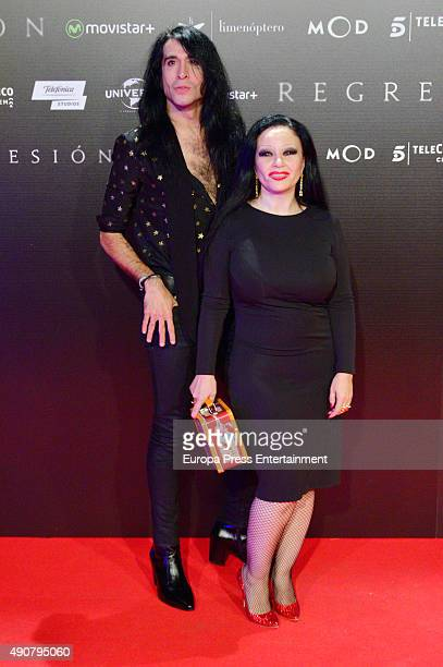Mario Vaquerizo and Alaska attend 'Regression' premiere on September 30 2015 in Madrid Spain