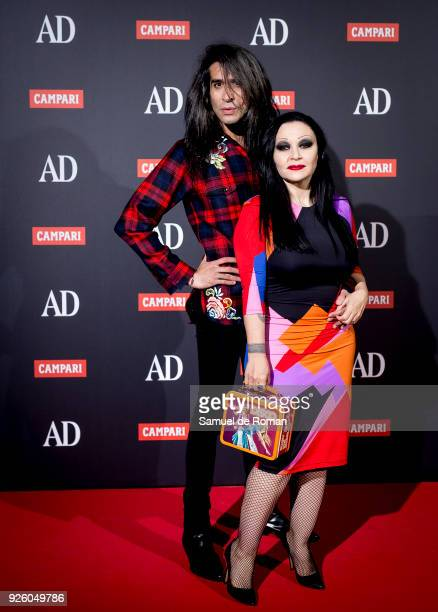 Mario Vaquerizo and Alaska attend the 'AD Awards' 2018 photocall on March 1 2018 in Madrid Spain