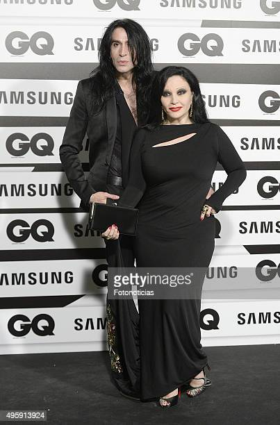 Mario Vaquerizo and Alaska attend the GQ Men Of The Year Awards at The Palace Hotel on November 5 2015 in Madrid Spain