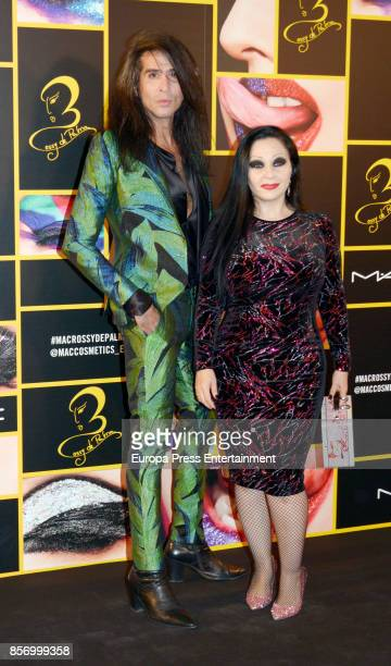 Mario Vaquerizo and Alaska attend the 'MAC collection' photocall at El Principito disco on October 2 2017 in Madrid Spain
