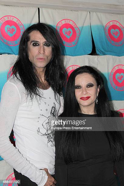 Mario Vaquerizo and Alaska attend the presentation of Mario Vaquerizo's first collection for the Hip Tee on September 15 2015 in Madrid Spain