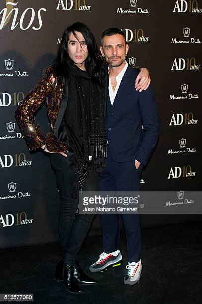 Mario Vaquerizo and David Delfin attends 'AD Awards' at Ritz Hotel on March 3 2016 in Madrid Spain