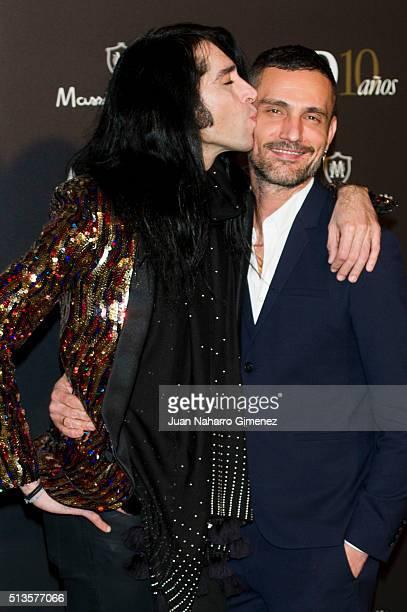 Mario Vaquerizo and David Delfin attends 'AD Awards' at Ritz Hotel on March 3 2016 in Madrid Spain