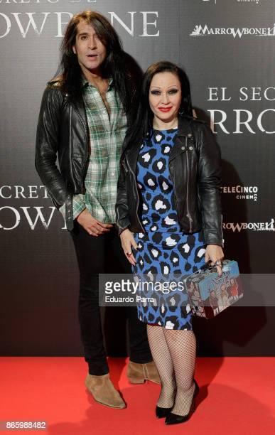 Mario Vaquerizo and Olvido Gara AJA Alaska attend the 'El secreto de Marrowbone' photocall at Capitol cinema on October 24 2017 in Madrid Spain