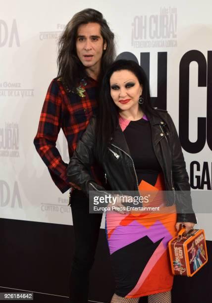 Mario Vaquerizo and Olvido Gara aka Alaska attend 'Oh Cuba' premiere at Fernan Gomez Theater on March 1 2018 in Madrid Spain