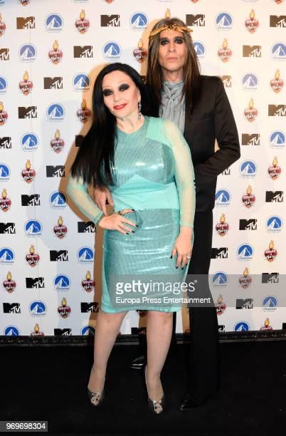 Mario Vaquerizo and Olvido Gara aka Alaska attend the 'Alaska Y Mario' 5th season presentation at Si Senor restaurant on June 7 2018 in Madrid Spain