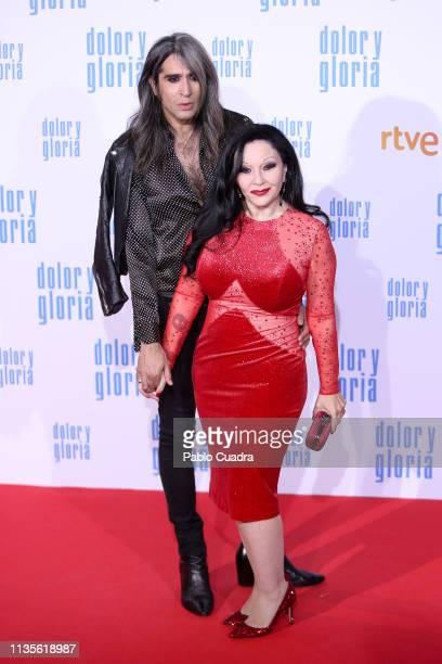 Mario Vaquerizo and Olvido Gara aka Alaska attend the 'Dolor y Gloria' premiere at Capitol cinema on March 13 2019 in Madrid Spain