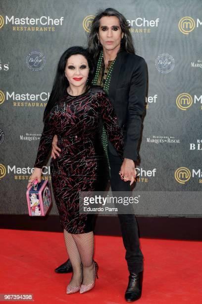 Mario Vaquerizo and Olvido Gara AKA Alaska attend the 'Masterchef' restaurant opening photocall on June 4 2018 in Madrid Spain