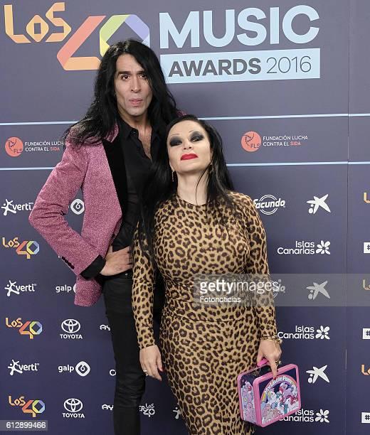 Mario Vaquerizo and Olvido Gara Alaska attend the 40 Principales Awards nominated dinner at Florida Retiro on October 5 2016 in Madrid Spain