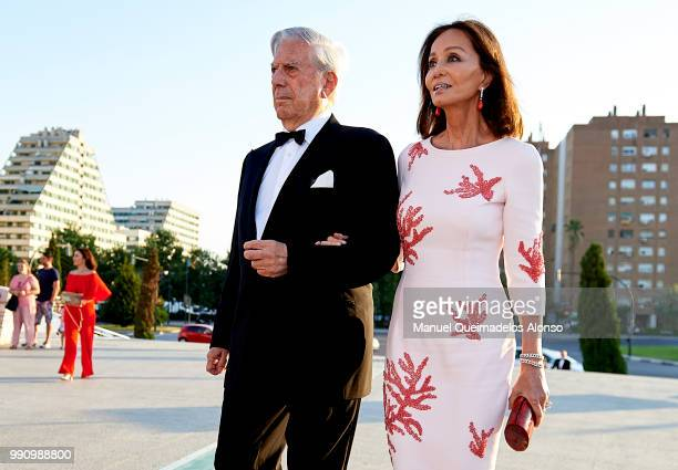 Mario Vargas Llosa and Isabel Preysler attend Arts Sciences and Sports Telva Awards 2018 at Palau de Les Arts Reina Sofia on July 3 2018 in Valencia...