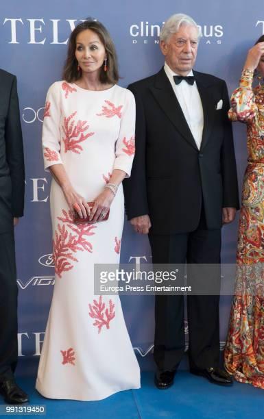 Mario Vargas Llosa and Isabel Preysler attend Arts Sciences and Sports Telva Awards 2018 at Palau de Les Arts Reina Sofia on July 3 2018 in Valencia...