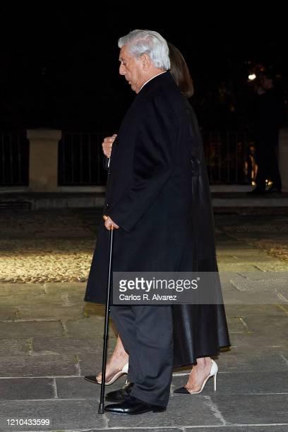 Mario Vargas Llosa and Isabel Preysler attend Placido Arango's Funeral at Los Jeronimos on March 04 2020 in Madrid Spain