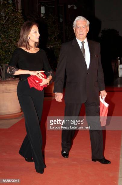Mario Vargas Llosa and Isabel Preysler attend the 25th anniversary of ThyssenBornemisza Museum on October 30 2017 in Madrid Spain