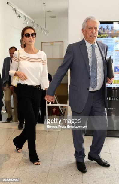 Mario Vargas LLosa and Isabel Preysler atttend XI Latin America Atlantic Forum organised by Fundacion para la Libertad on July 6 2018 in Madison...