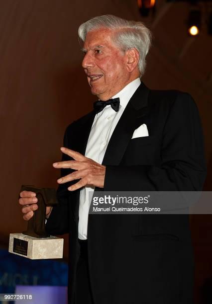 Mario Vargas Llosa attends Arts Sciences and Sports Telva Awards 2018 at Palau de Les Arts Reina Sofia on July 3 2018 in Valencia Spain