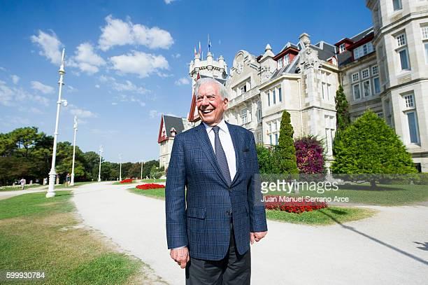 Mario Vargas Llosa attends at the International Menendez Pelayo University on September 7 2016 in Santander Spain