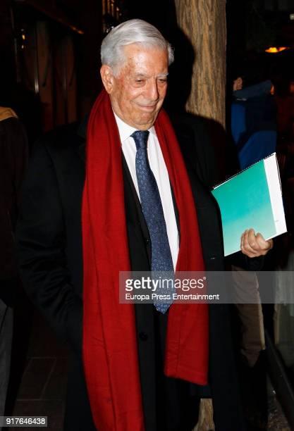 Mario Vargas Llosa is seen on January 23 2018 in Madrid Spain