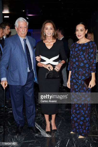 Mario Vargas Llosa Isabel Preysler and Tamara Falco attend 'Tiempos Recios' new book presentation at Casa America on October 28 2019 in Madrid Spain