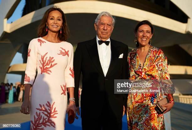 Mario Vargas Llosa Isabel Preysler and Telva magazine Director Olga Ruiz attend Arts Sciences and Sports Telva Awards 2018 at Palau de Les Arts Reina...