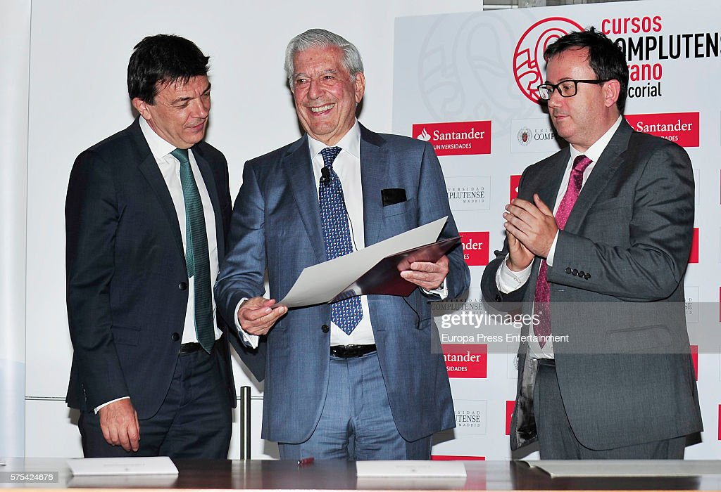 Mario Vargas Llosa Is Doctorate In Romance Philology : News Photo