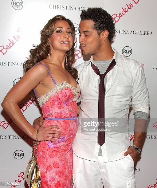 Mario Vazquez and Guest during Christina Aguilera's NYC Album Release Party August 15 2006 at Marquee in New York City New York United States